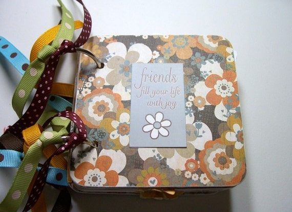 Friends Mini Scrapbook Album, Friends Mini Album, Friends scrapbook, Friends Photo Album, Friends Brag Book, Friends Album