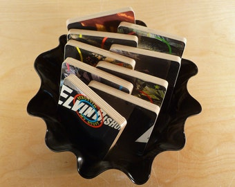 ELVIN BISHOP recycled Struttin My Stuff abum cover coasters and record bowl