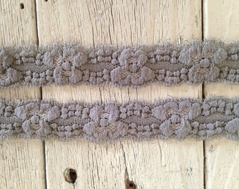 Stretch Lace-GRAY-1 inch -10 yards for 5.50