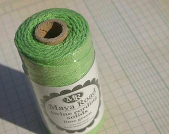 Maya Road Twine Cording - Bakers Twine - Lime Green - 100 Yard Spool - Green Twine