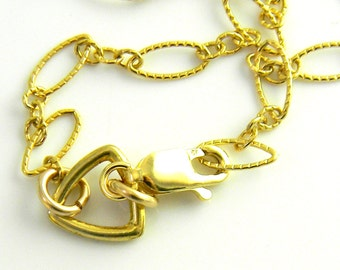 Vermeille Triangle and Textured 14kt Gold Filled Geometric links bracelet with solid 14kt gold clasp