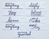 Positive Statement Tags, perfect for Project Life