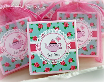 Tea Party Favors, Birthday party favors, baby shower favors, Girls Tea Party favors, set of 10