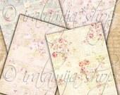 SHABBY SCRIPT backgrounds Collage Digital Images -printable download file-