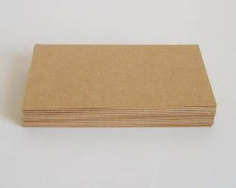 50 Blank brown kraft business cards, kraft thank you cards, mini cards, small note cards, place cards, escort cards, note cards, blank cards