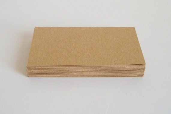 50 Blank brown kraft business cards kraft thank by
