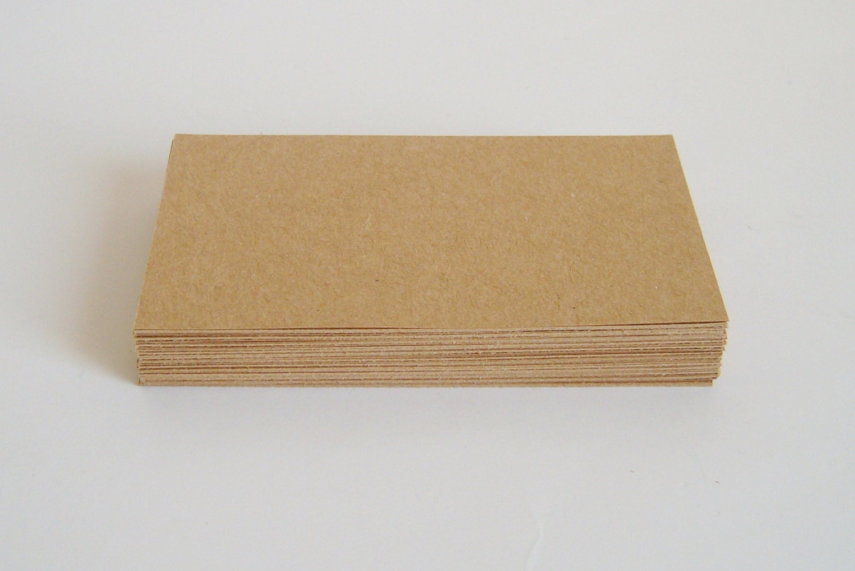 50 Blank brown kraft business cards kraft thank by