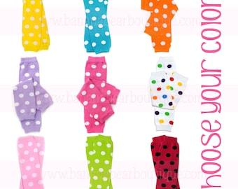 Polka Dot Leg Warmers - You choose the color!