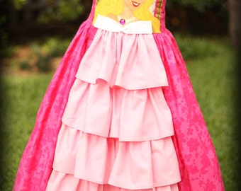 Custom Size  Aurora Disney Princess Dress Sizes 2 3 4 5 6 7 8
