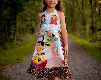 Disney Toy Story Custom Dress Sizes 2 3 4 5 6 7 8