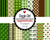 Digital Scrapbook DigginDirt-INSTANT DOWNLOAD