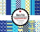 Digital Scrapbooking MarcoPolo-INSTANT DOWNLOAD