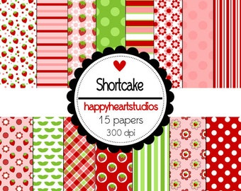 Digital Scrapbook Shortcake-INSTANT DOWNLOAD