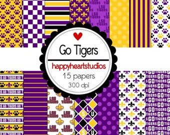 Digital Scrapbook GoTigers- INSTANT DOWNLOAD