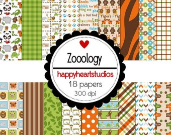 Digital Scrapbook Zooology-INSTANT DOWNLOAD