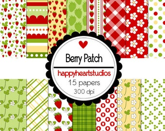 Digital Scrapbook  BerryPatch-INSTANT DOWNLOAD