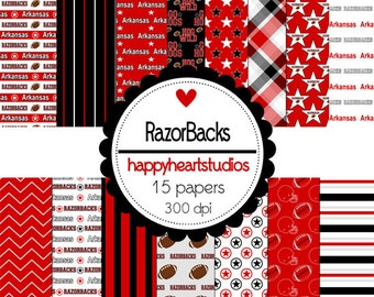 Digital Scrapbook RazorBacks-INSTANT DOWNLOAD