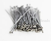 100pcs Gunmetal Plated Brass Base Head Pins-50mm (2 Inch)-20 Gauge (330C-I-79)