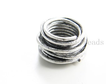 1pcs Oxidized Silver Tone Base Metal Spacer - Ring 32x32mm with 17mm hole (192C-R-207)
