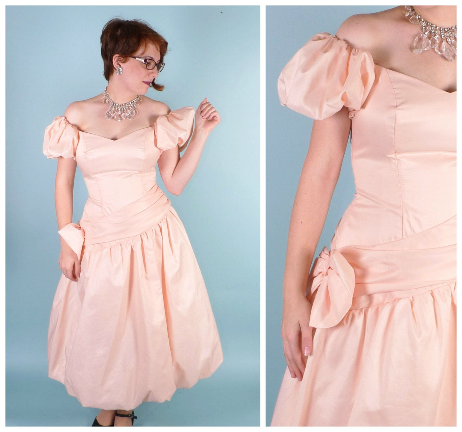 Vintage 80's Prom Dress // Comic Con PRINCESS PEACH Gown