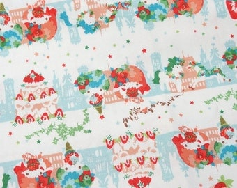 Twin Little Stars Kiki and Sweets  print Half meter