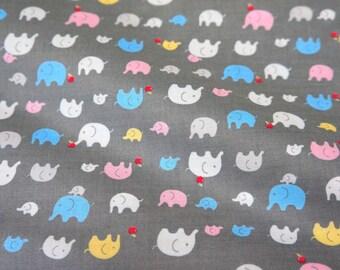 Tiny elephant print fat quarter  nc14