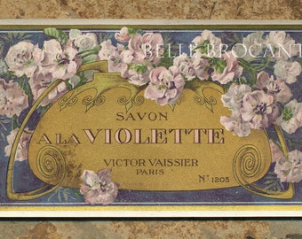 Antique Vintage French Apothecary Perfume Label 41