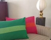 Green hand woven cushion covers set of 2