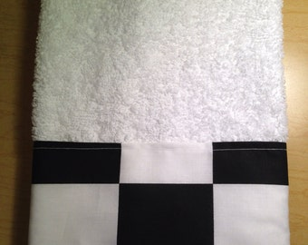 New handmade Nascar Checkered Flag Guest Hand Towel