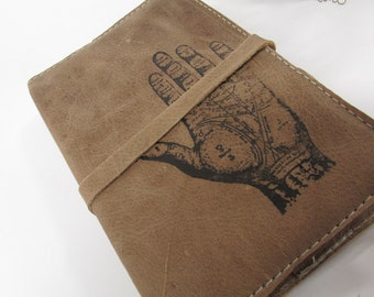 Leather journal or sketchbook free personalization palmist