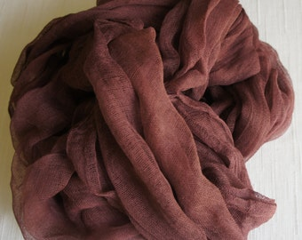 Cheesecloth, Newborn Wrap Photography Prop, Chocolate brown Cheesecloth, Baby Wrap, Newborn Photo Prop, Newborn Cheeseclth Wrap, Gauze