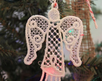 Free Standing Lace Angel ornament