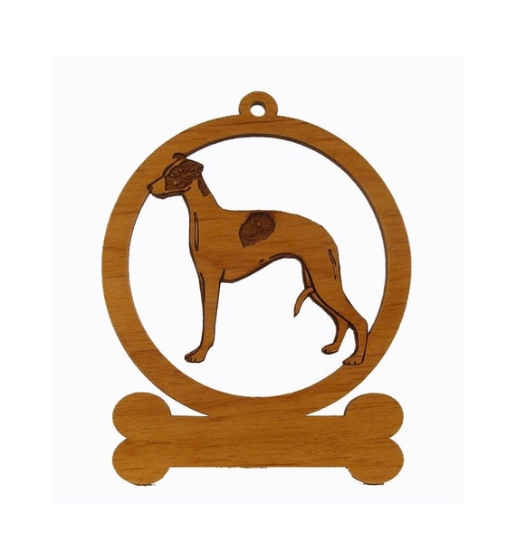 Whippet  Wood Dog Ornament 084225 Personalized With Your Dog's Name