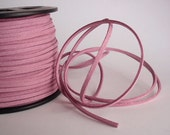 7 Yards (21 Ft.) Plum Colored Faux Suede Cord, Jewelry Making Supplies