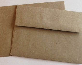 BBE7  50 A7 70 lb.Recycled Brown Bag Envelopes 5 1/4 x 7 1/4 (13.34cm x 18.42cm)