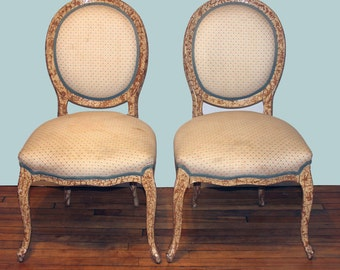 Design your Own Vintage Victorian Pair of French Bergere Chairs