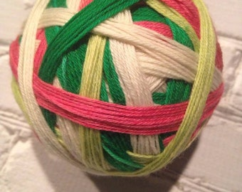 kiss me I'm Irish self striping sock yarn  dyed to order just for you