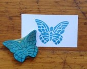 Butterfly Rubber Stamp Hand Carved