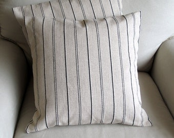 CASUAL CHIC Black stripes -pair- PILLOWS 18x18 20x20 22x22 include inserts
