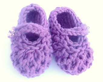 Baby Shoes Knitting Pattern - Baby Booties - Bonny Baby Mary Jane Shoes - 4 sizes: Newborn - 12 Mths