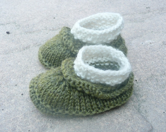 Knitting Patterns For Seamless Baby Booties : Knitting Pattern Baby Booties Baby Shoes Simple Seamless