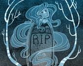 Cemetery Sighs 8x10 art print
