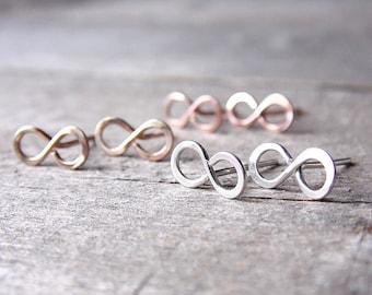 Infinity Studs Set of Three Post Earrings