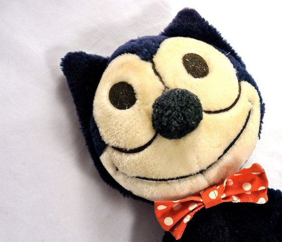 Felix the Cat Stuffed Animal dated 1982 by SwanSongAntiques