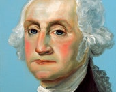 George Washington - original oil painting by G.Matta