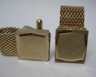 Gold Cuff Links Vintage