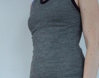 Women's Merino Wool Tank - Custom Made SKYLARK in Sizes XS to XL - Base Layer Undershirt