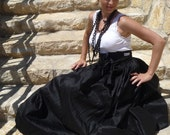 Duiponi SIlk - Floor Length SKIRT - Pick your own Color - Made in ANY Size - Boutique Mia by CXV