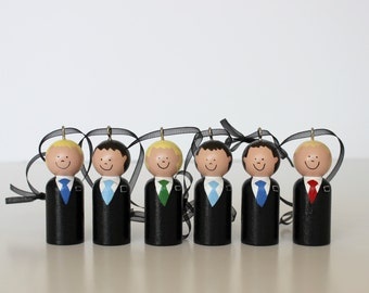 SIX Custom LDS Missionary Ornaments, Missionary District of Elders