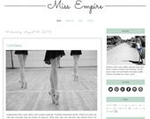 Premade Blogger Template - MISS EMPIRE - Mobile Responsive - Graphic Design - Blog Template